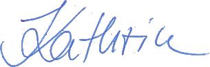 Signature von Kathrin