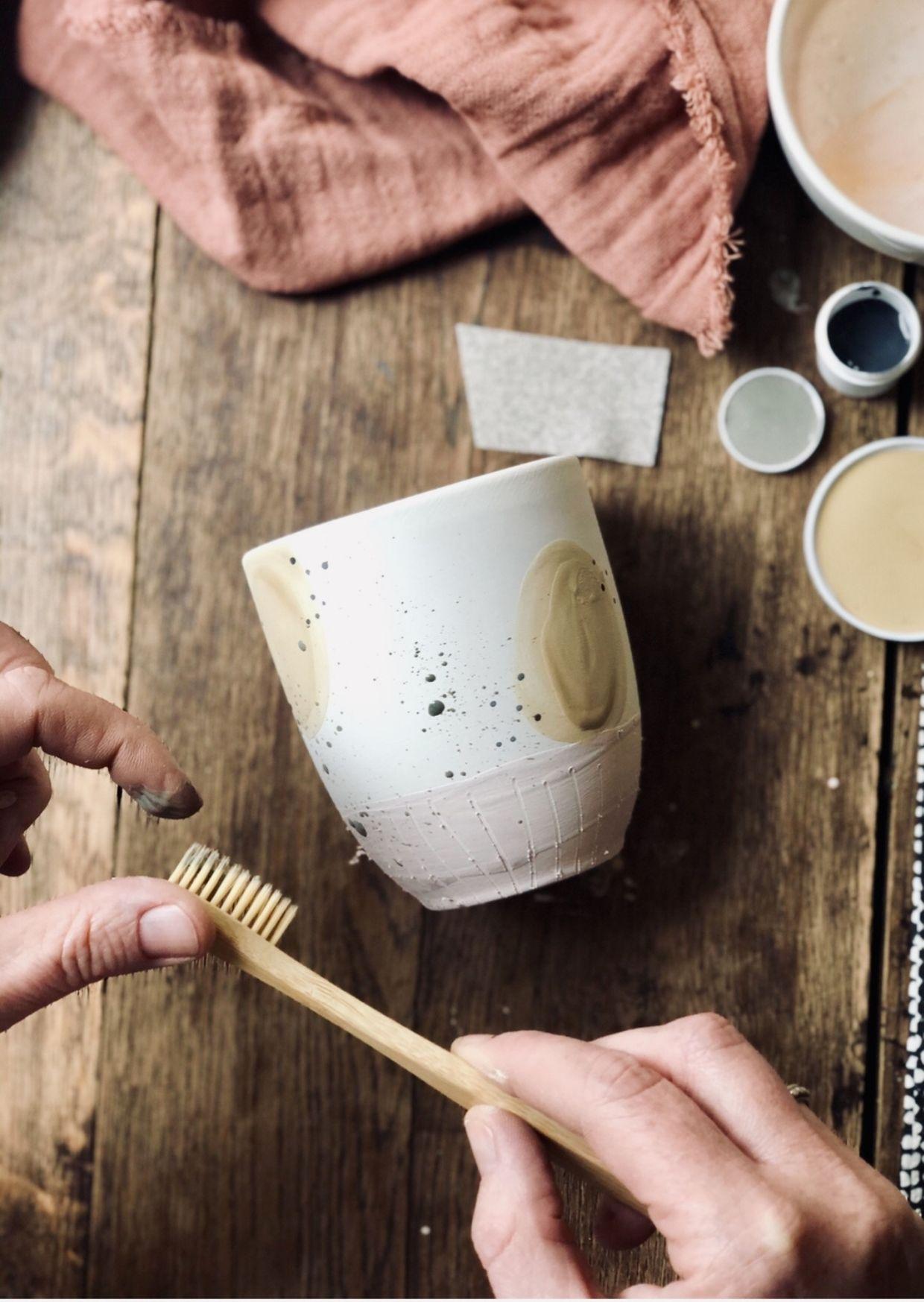 Keramik bemalen Workshop Erlebnis bei Zink und Zauber