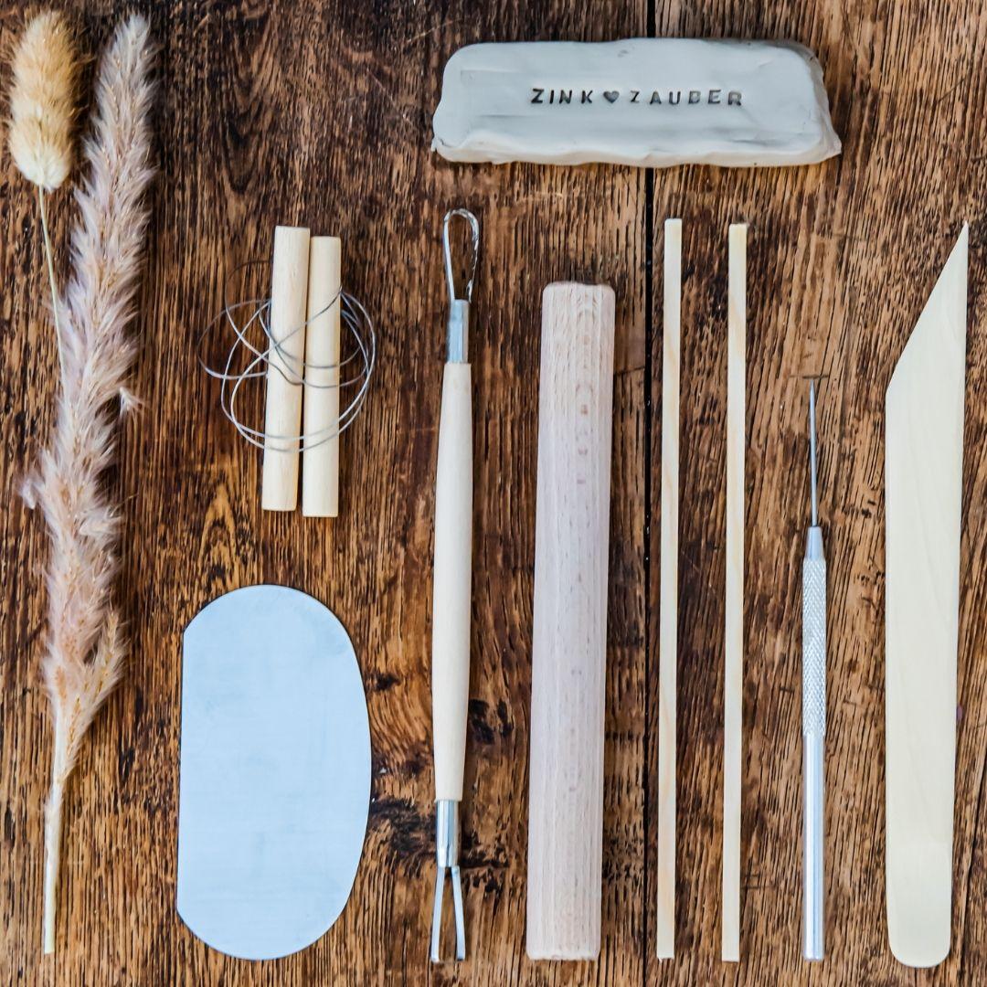 Werkzeugset zum Töpfern Zuhause mit der Töpfern2go Box