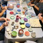Zink und Zauber, Keramik bemalen